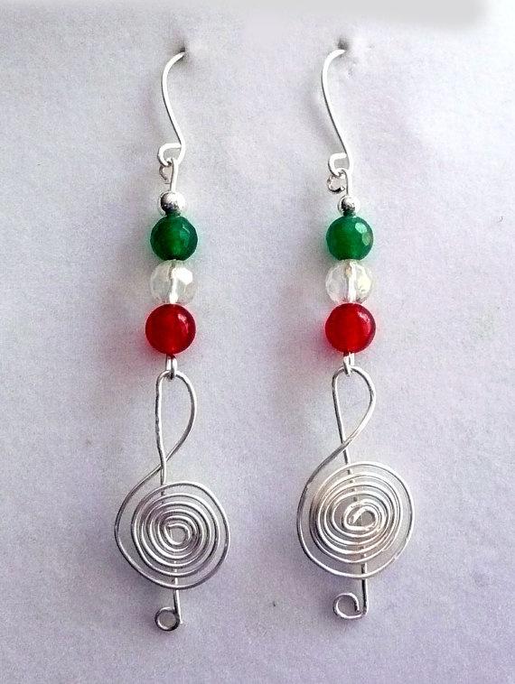 Genuine Jade/Crystal StSilver Plated Wire Treble by IslandGirl77, $11.99: Semipreci Gemstones