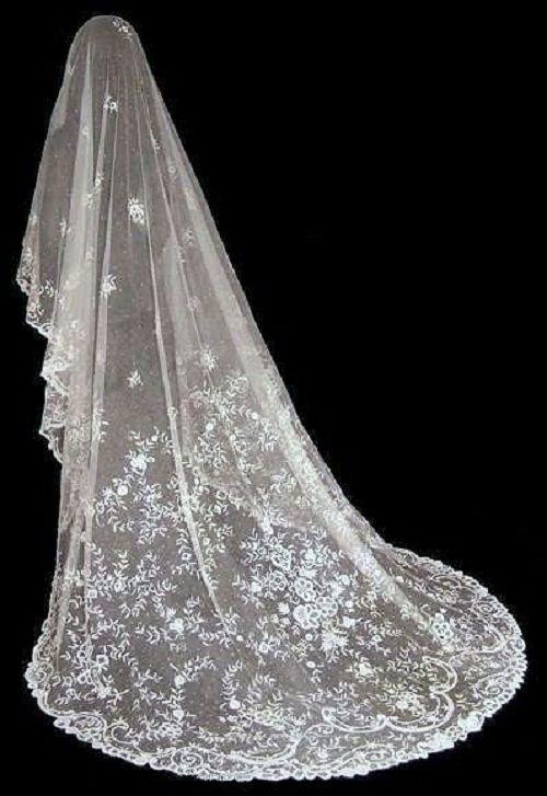 Vintage Long Bridal Veil