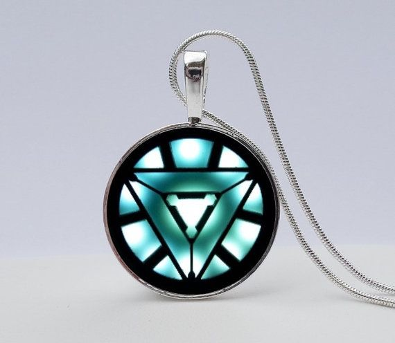 Show your fan pride with this Iron Man Necklace.  Explore all our shield pendants on our Etsy site.