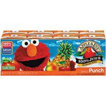 Apple & Eve, Elmo Fruit Punch Aseptic 8 Pack, 5/8/125 Ml