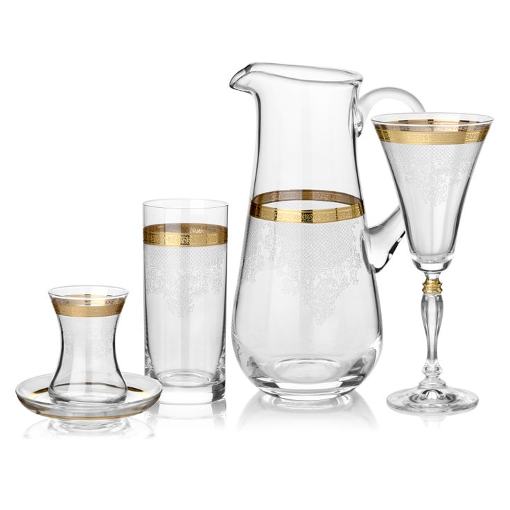 Magic Gold Cam Kadeh Serisi / Glass Set #bernardo #tabledesign #glass