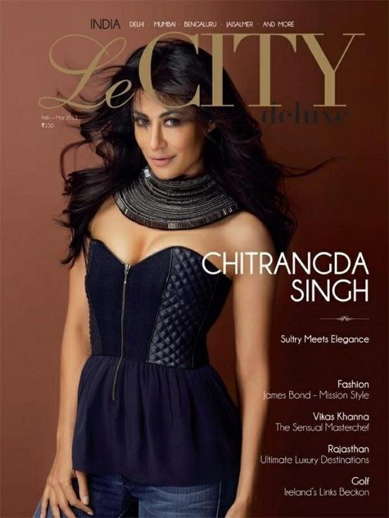 Chitranagada Singh on The Cover of Le City Delux Magazine - March 2013.