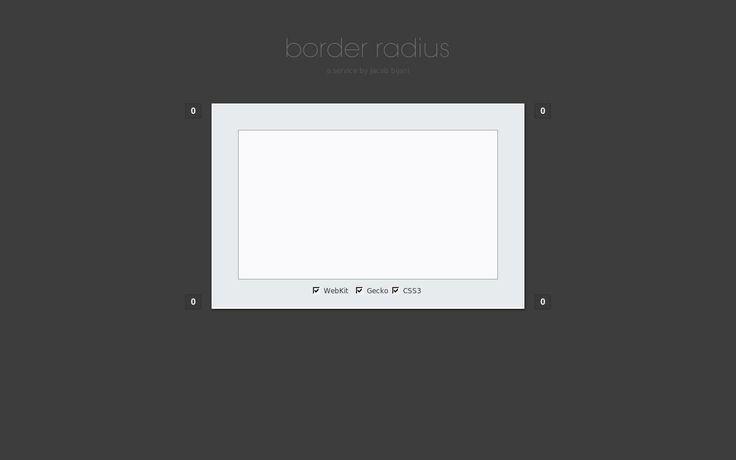 """Border-radius.com - """"Border-radius: CSS border radius generator for lazy people."""" Genera automáticamente el código para bordes redondeados a cada lado, incluso de forma independiente. #CSS #HTML #DisenoWeb"""