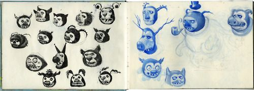 Robert MacKenzie's sketchbooks are stunning check them out @ http://mackenzieart.tumblr.com