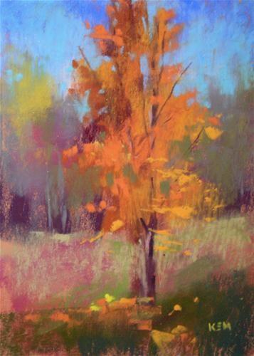 Another plein air tree 5x7 pastel original fine art for Original fine art paintings for sale