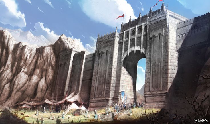 Bless online concept_Lustika gate_by YA SU
