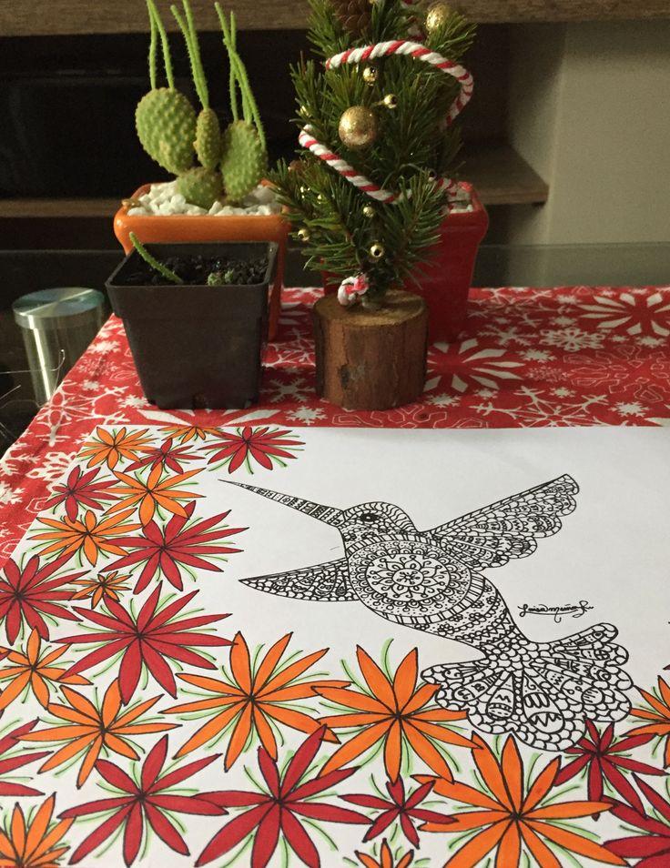 Black and white hummingbird - Luisamr