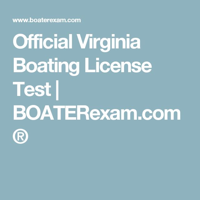Official Virginia Boating License Test | BOATERexam.com®