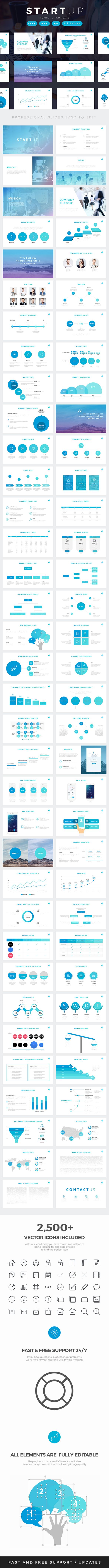 Startup Company Pitch Deck Keynote Template - #Business #Keynote #Templates Download here: https://graphicriver.net/item/startup-company-pitch-deck-keynote-template/19321030?ref=alena994