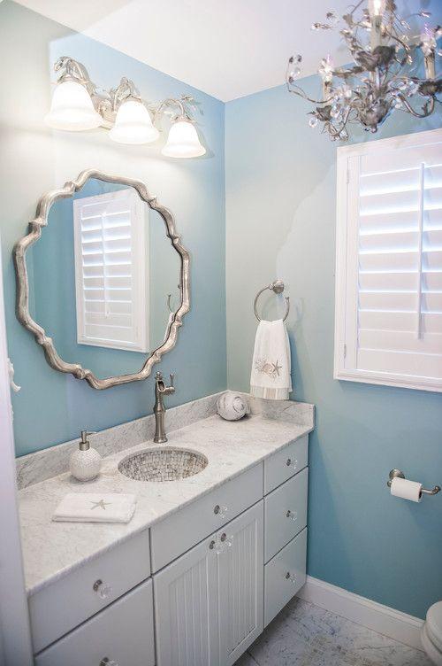 Beautiful Spa like coastal bathroom #blue #coastal #interiordesign Photo by Drumm Design Remodel
