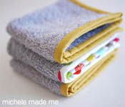 Old Towel, New Washcloth - now, I knew I could do this, but now I know what to do with all that binding stuff I got - I'm too intimidated to make a huge blanket with it as the edge right now, pinning it & sewing it onto cut up towels to make washclothes, dishcloths, bathmats, etc, that I can do. ~Ariel