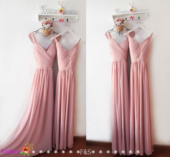 Dusty Pink Bridesmaid DressElegant Prom by FashionStreets on Etsy