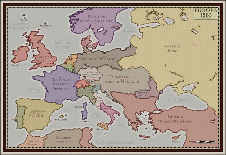 Steamclock - Europe in 1883 (Alt History) by McMagnanimus on DeviantArt