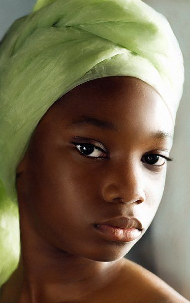 Dianja with #green head wrap, photography by Elena Kalis