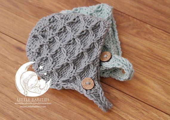 RTS  newborn bonnet  merino wool by LittleRaritiesStudio on Etsy