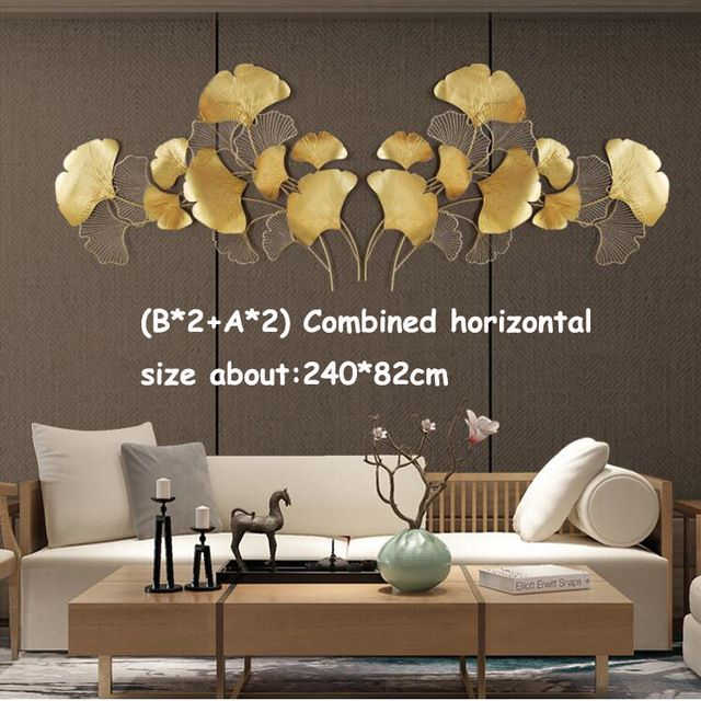 15 Off Your First Purchase Free Shipping Worldwide Gold Wrought Iron Ginkgo Leaf Wall Decor Design Art Wall Kids Home Decor