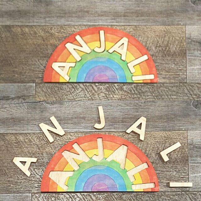 #namepuzzles #woodentoys #rainbows #kids #kidspuzzles #christmaspresent #birthdaypresent #personalisedproducts #kidspersonalised