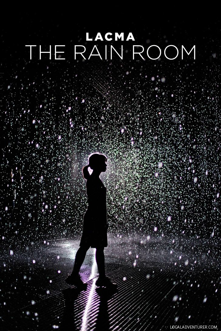 See how Random International combines art and technology at the Los Angeles County Museum of Art / LACMA Rain Room.