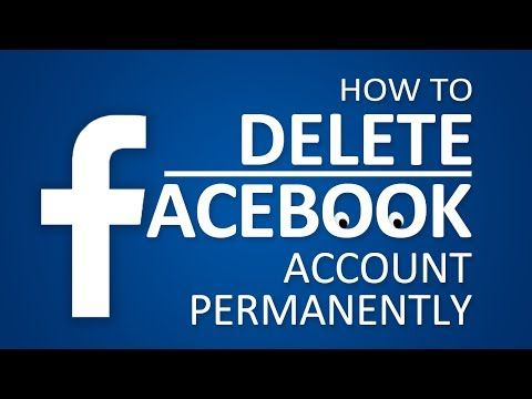 How to Delete Facebook Account Forever (Also How to Deactivate) - YouTube