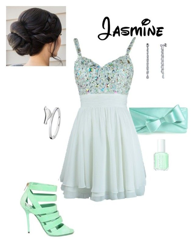 """""""Disney Prom - Jasmine"""" by briony-jae ❤ liked on Polyvore featuring Kate Spade, Essie and Harry Kotlar"""