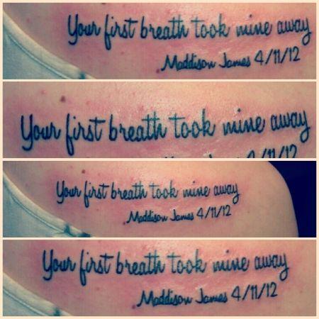 your first breath took mine away, awwww I want!
