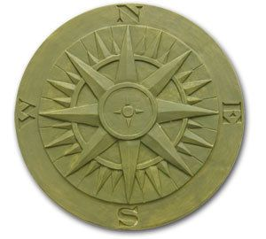 Compass Rose Stepping Stone Mold by SaharasSupplies on Etsy, $24.95