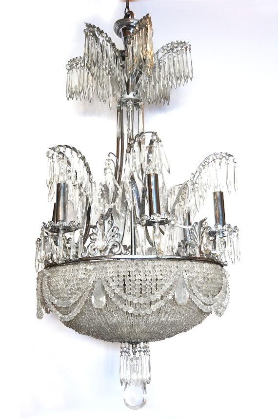 1920s rock crystal chandelier
