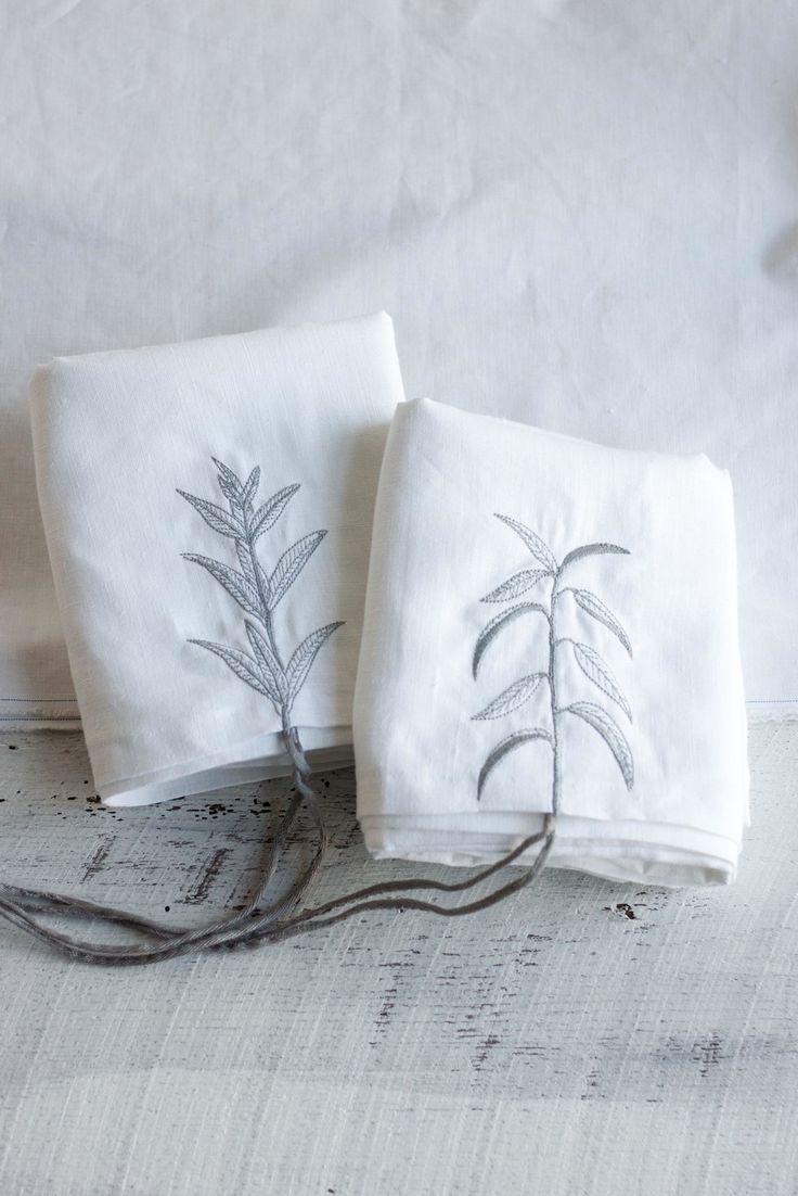 embroidered pillowcase set — trish + co.