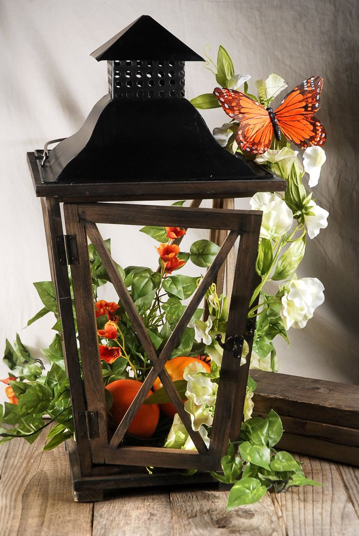 lantern butterfly ivy floraldecor centerpiece weddings beverlys beverlyfabrics diy. Black Bedroom Furniture Sets. Home Design Ideas