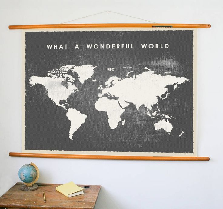 Vintage wereldkaart poster