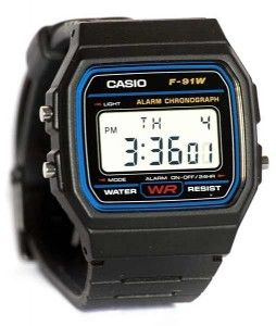 Look at this Casio F91W-1 Classic Resin Strap Digital Sport Watch. Available for under $10, you can't ask for more.