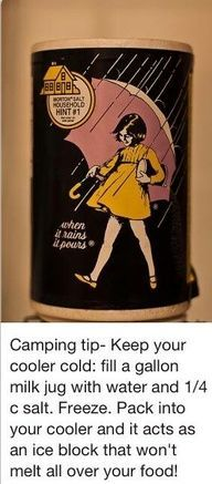 Camping tip...just make sure you mark it so you don`t drink it when you run out of water. For future reference.