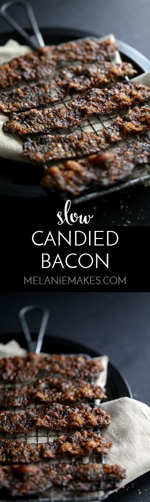 Thick-cut bacon is spread with brown sugar, red pepper flakes and ground mace.