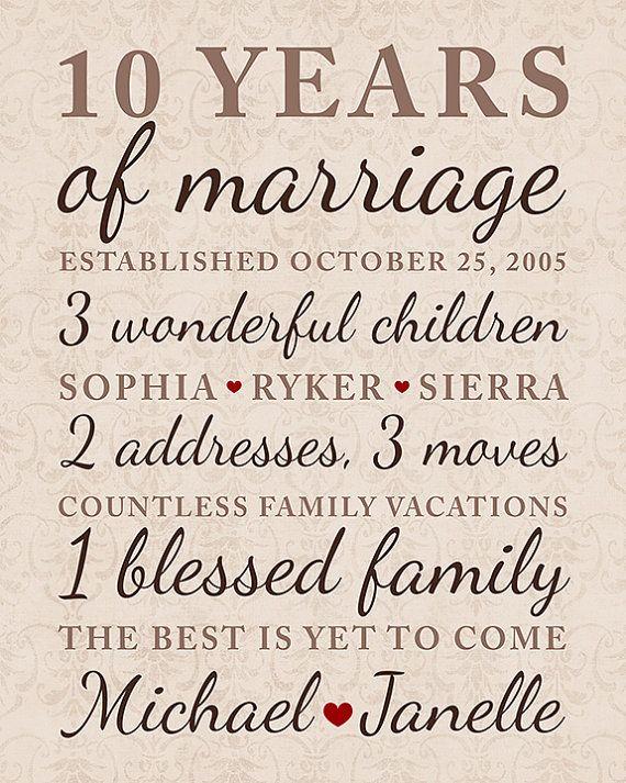 Regalo di anniversario di 10 anni matrimonio anniversario date