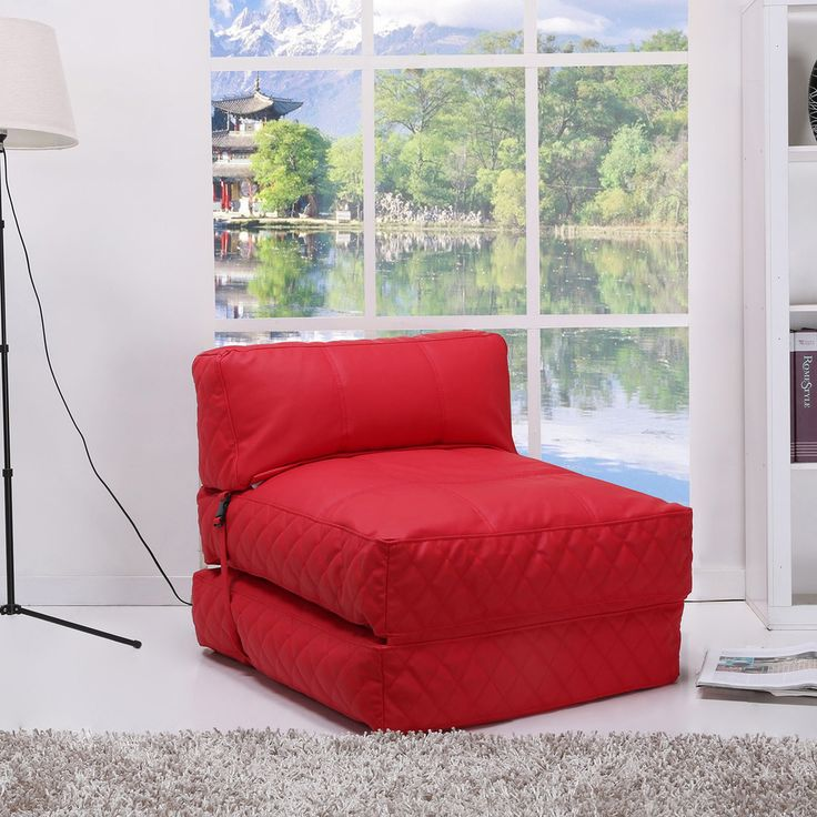 Austin Red Bean Bag Chair Bed - Overstock™ Shopping - Big Discounts on Bean & Lounge Bags