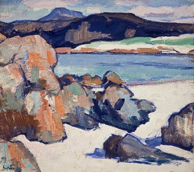 Fine Art Print of Iona Landscape: Rocks by Samuel John Peploe