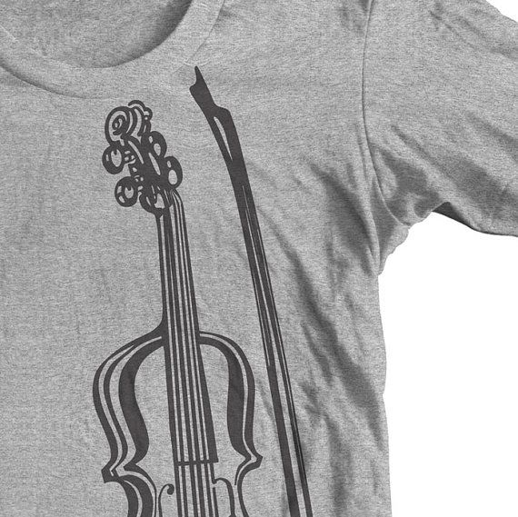 VIOLIN INSTRUMENT T shirt. Great Gift for a Musician. GoWithMusic Orchestra Concert Violin Player.