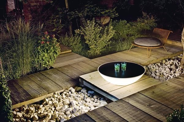 Foscarini's Solar Outdoor Floor Fixture - outdoor light, sculpture, or side table?