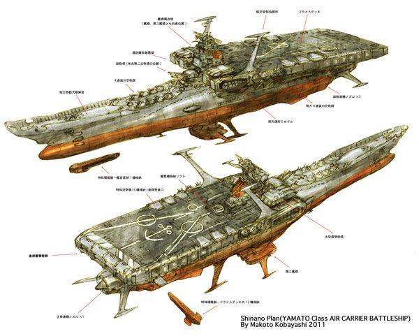 小林誠カレンダー製作日誌 第四回 「航宙戦艦信濃の話。」   YAMATO CREW