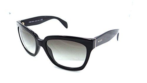 0354b3d57a9a Prada Sunglasses Spr 07p 1ab-0a7 5618 Shiny Black   Grey Gradient Made in  Italy