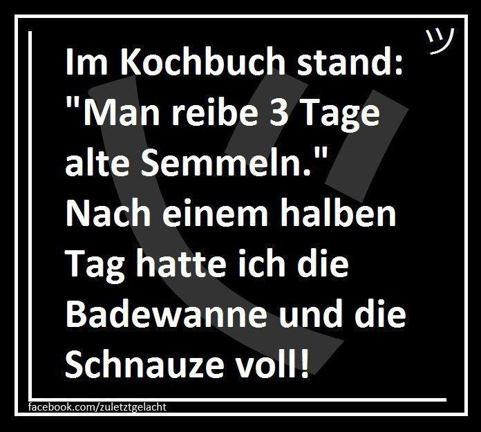 Kochbuch Lustig Witzig Bild Bilder Spruch Spruche Kram 3 Tage