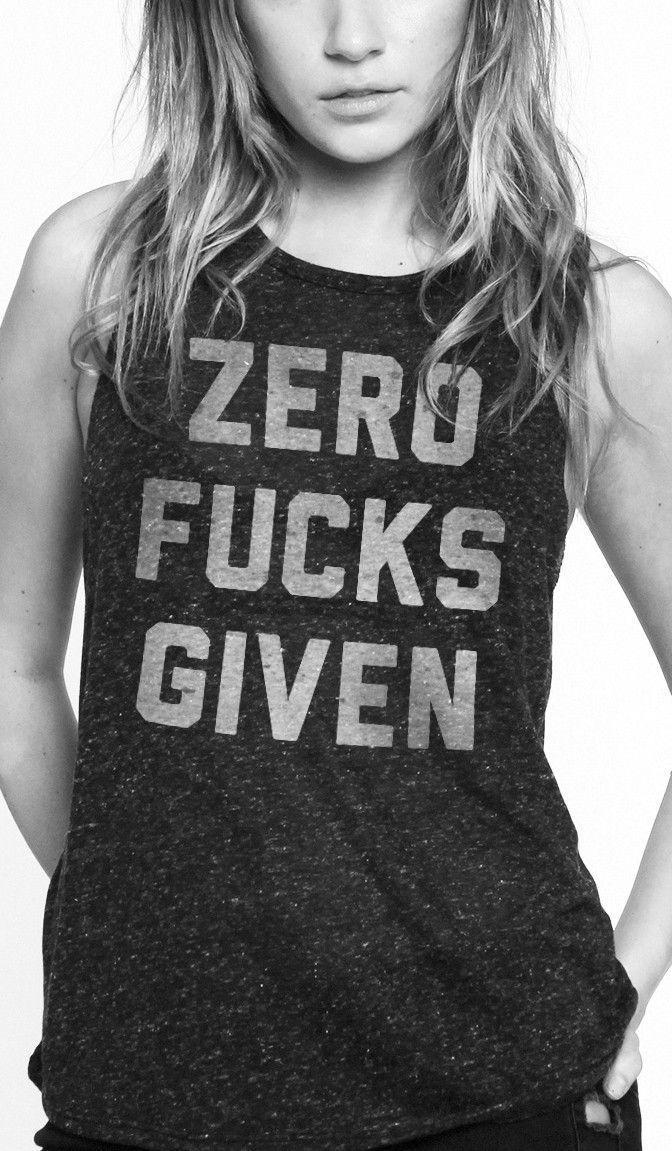 zero fucks given muscle tee