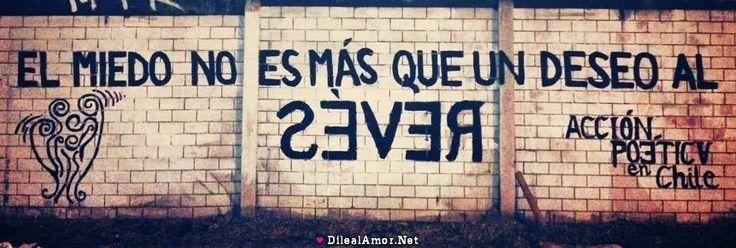 El miedo no es mas que un deseo al revés  #muros #artepublico