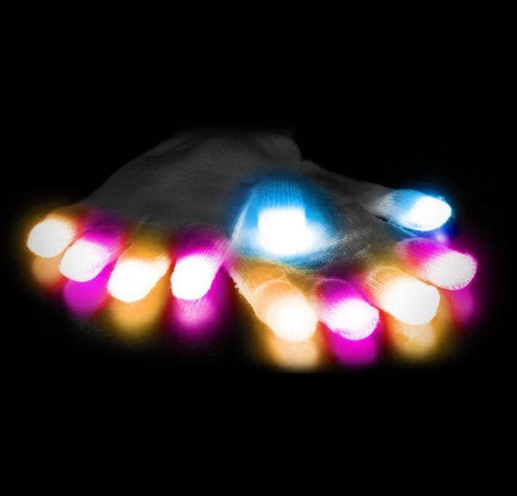 Gloving LED Gloves - Coolest Cool Gadgets