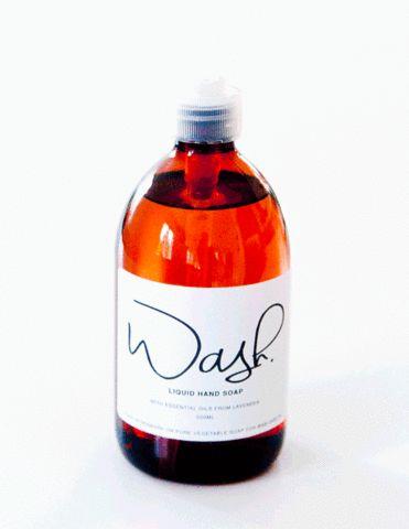 1/2 liter flydende håndsæbe 'Wash' - Lavendel 500 ml. – www.wabi-sabi.dk