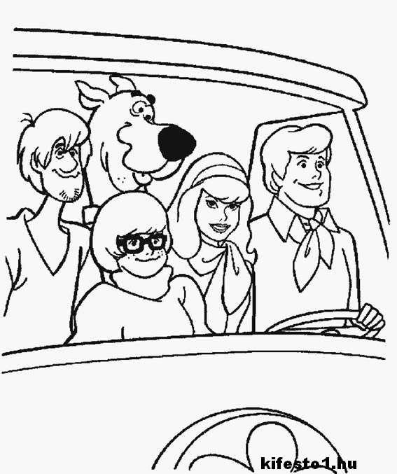 Scooby Doo 30 kifestő nyomtatható