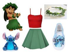 """""""lilo and stitch costume"""" by smilee0625 on Polyvore featuring arte"""