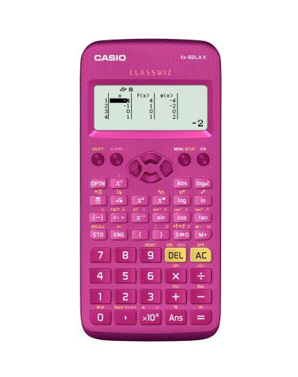 Calculadora científica em português com 274 funções, menu com ícones e display de alta resolução.