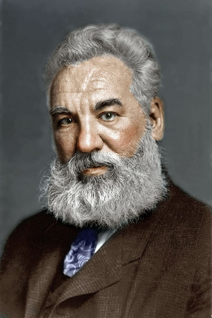 Alexander Graham Bell....a distant relaytive..... (1847-1922), the Scottish-born American scientist best known as the inventor of the telephone, worked at a school for the deaf while attempting to invent a machine that would transmit sound by electricity.