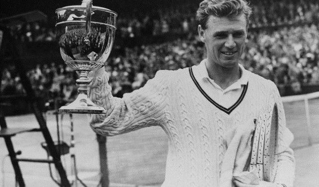 Frank Arthur Sedgman (born 1927 Victoria, Australia) is a retired former World No. 1 amateur tennis champion. Sedgman dominated amateur tennis in 1951 and 1952 when there was no Open tennis. He was the Wimbledon Singles champion in 1952. Sedgman is only one of five tennis players all-time to win a multiple slam set in two disciplines, matching Margaret Court, Roy Emerson, Martina Navratilova & Serena Williams.